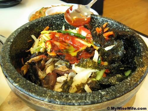 Korean stone rice