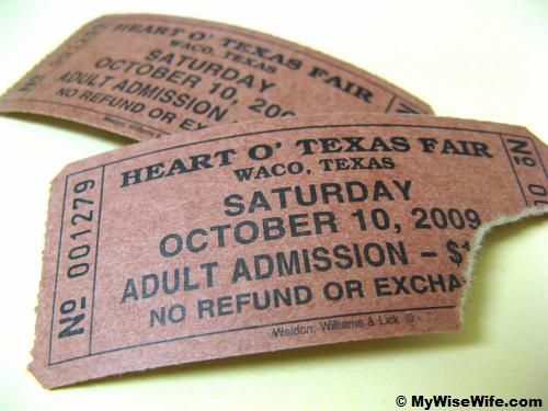 License to enter...Heart O' Texas Fair & Rodeo
