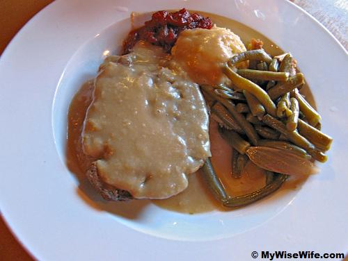 Silver K Cafe's Homemade Meatloaf - lovely with brown gravy