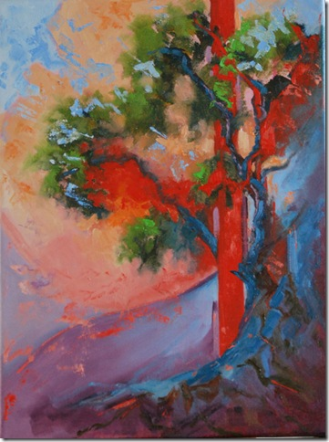 Oak - Abstract, original oil painting