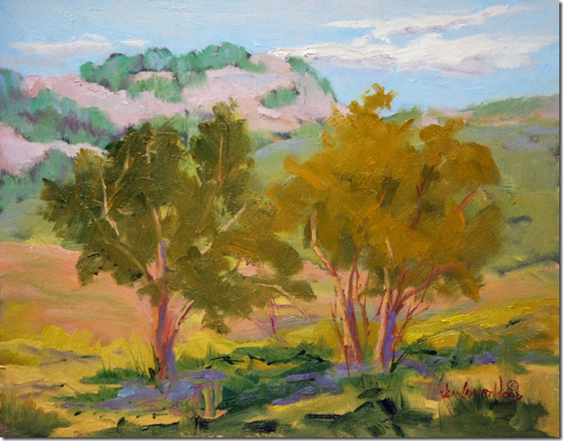 View from the Hill Country, Landscape Oil Painting