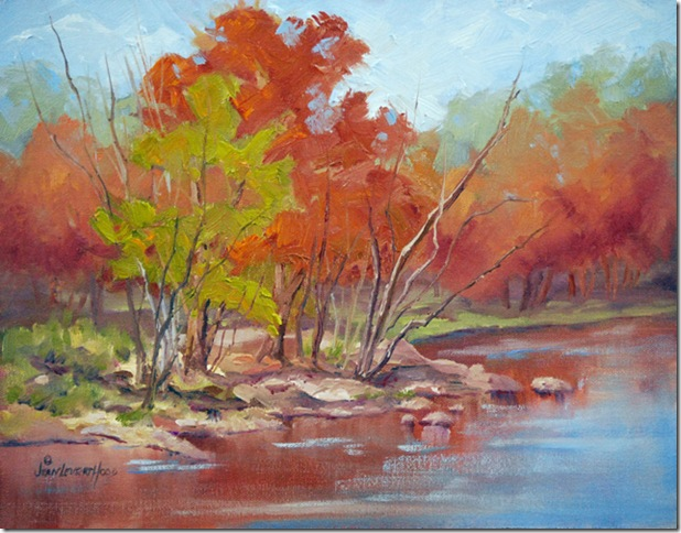 Nueces in Fall, oil painting