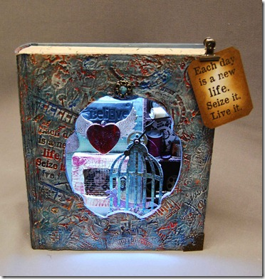 Andy skinner stamed decoart Altered box