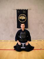 Dominique GERARD, one of the senseis (teachers) of the Shobukai Kendo Club.