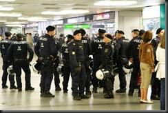 Police in the Metro