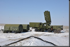S-400 air defense system equipped with radar vehicle