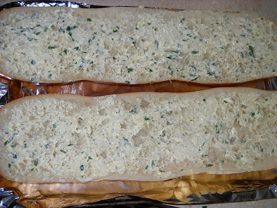 uncooked garlic bread