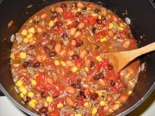 add beans and corn
