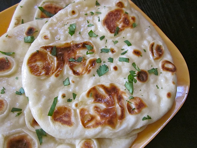 homemade naan