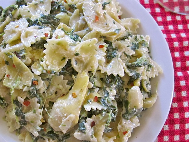Spinach Artichoke Pasta
