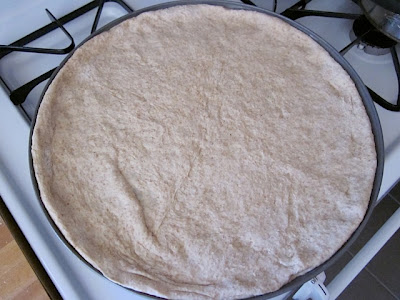 pizza dough in pan