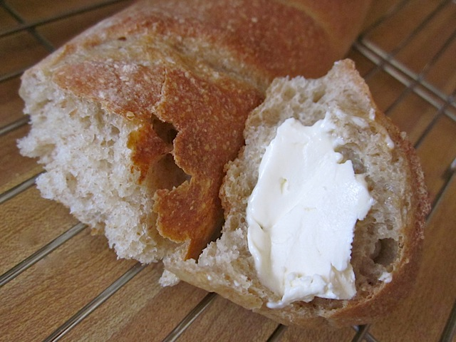 King Arthur Baguette sour dough whole wheat