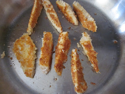 golden brown fish sticks