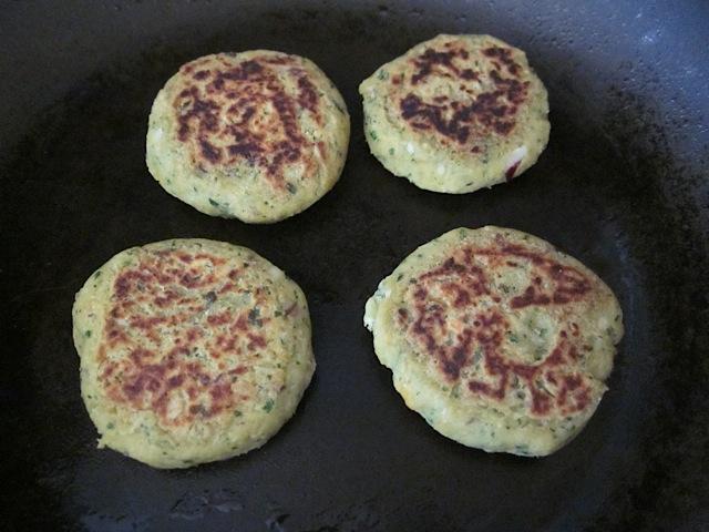 pan fry falafel