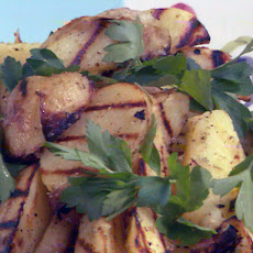 Grilled Yukon Gold Potatoes with Rosemary-Lemon-Garlic Vinaigrette