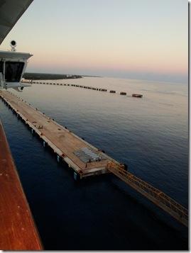 9.  Cozumel port at sunrise