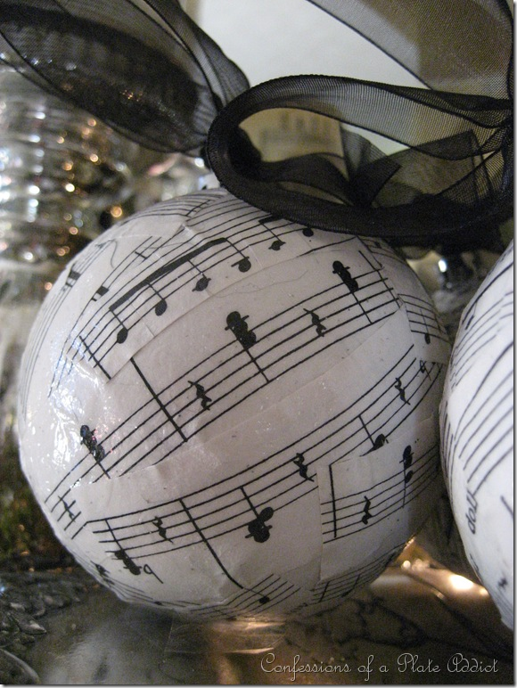 CONFESSIONS OF A PLATE ADDICT Sheet Music Ornaments