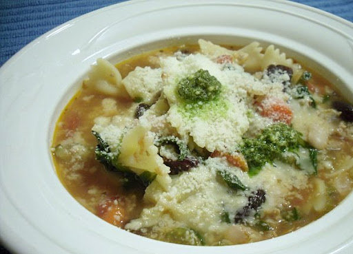 Turkey Sausage Minestrone Soup