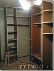 наполнение углового шкафа купе с распашными дверями