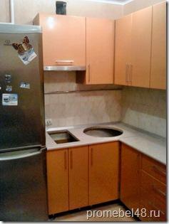 угловая кухня 6кв.м. фото