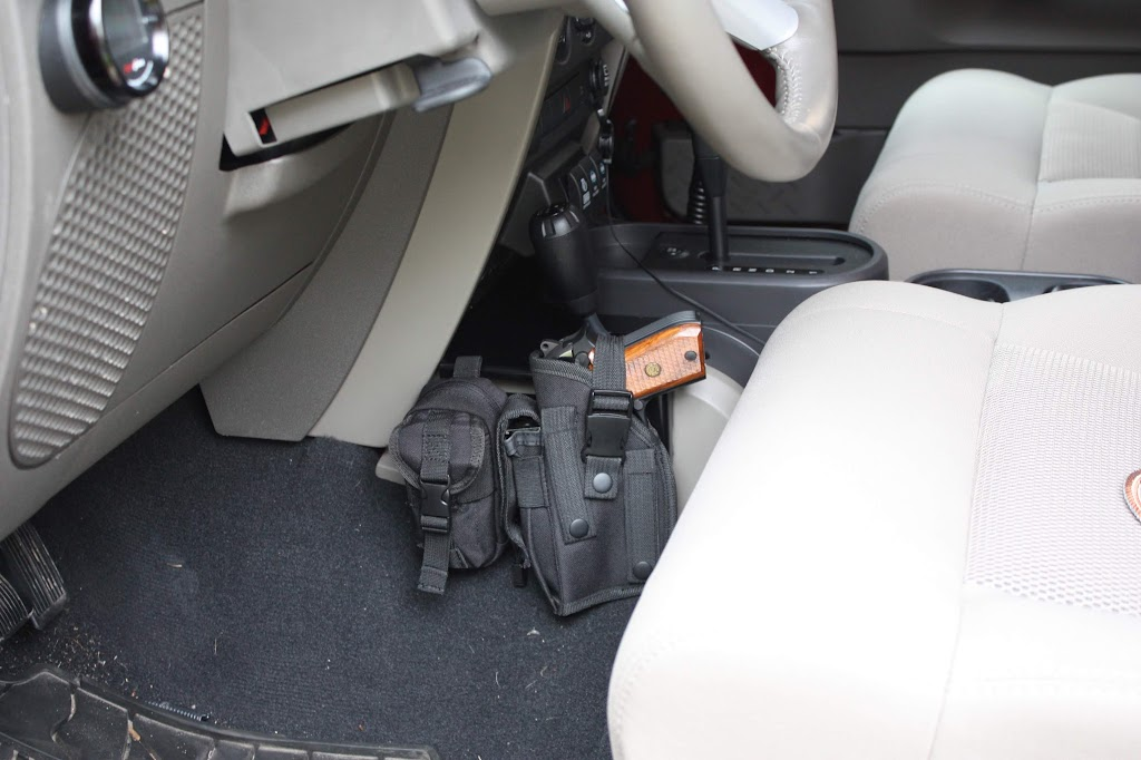 Jeep Wrangler Gun Holster Mount Car Interior Design