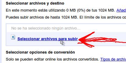 Subir archivos