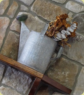 dried arrangement watering can