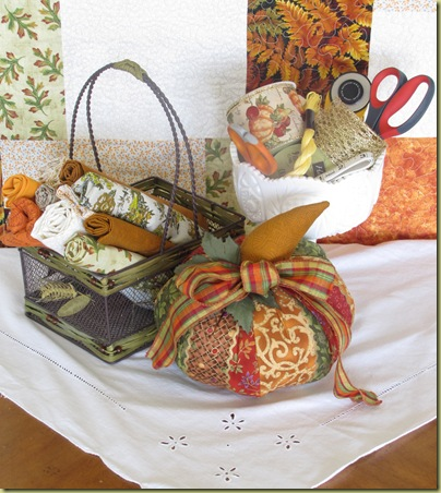 sew a pumpkin display