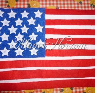 Como hacer la Bandera de los Estados Unidos (EE.UU) (USA)