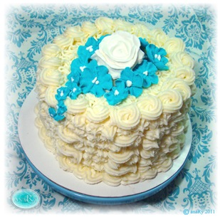 Butter cream Turquoise Birthday cake