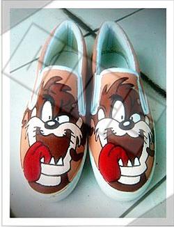 Tazmanian Devil - Sepatu Lukis