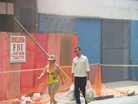 Demolição de imóvel na rua Rêgo Freitas (centro), realizada pela empresa FBI sem qualquer segurança. Foto: Gladstone Barreto. Clique para ampliar
