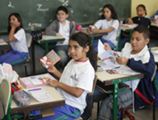 Crianças da rede municipal de ensino. Foto: site da Prefeitura Municipal de São Paulo