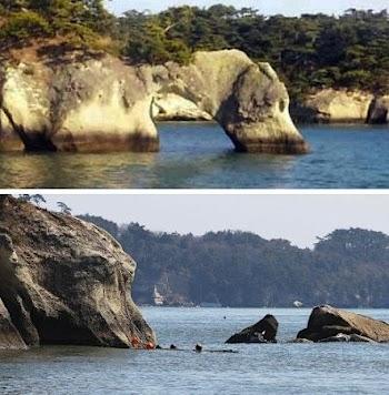 日本一处千年景观被地震震塌