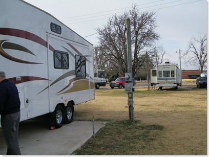 our old house and our new house at Sooner RV Park