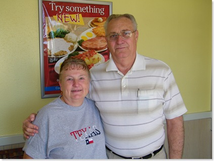 Joyce Cooley & Don at IHOP in SA