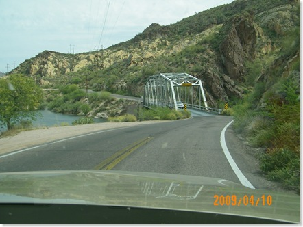 first one lane bridge on Apache Trail
