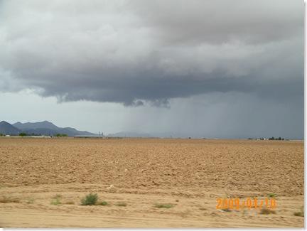 Saturday brought rain to the desert