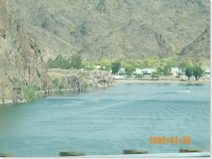 Colorado River -going down the road out of Parker to Lake Havasu City
