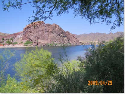 from Parker Dam Road on the Arizona side of the Colorado River