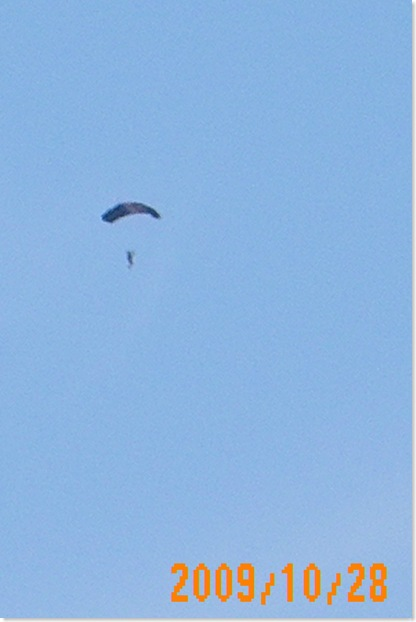 the skydivers where out early this morning