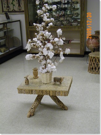 table made of cholla cactus