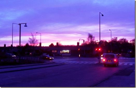 lysende himmel