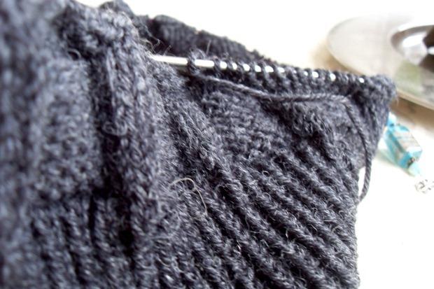 Det aktuelle strikkeprojekt