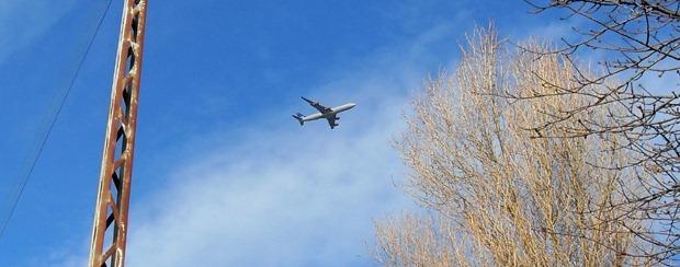Fragtfly på himlen