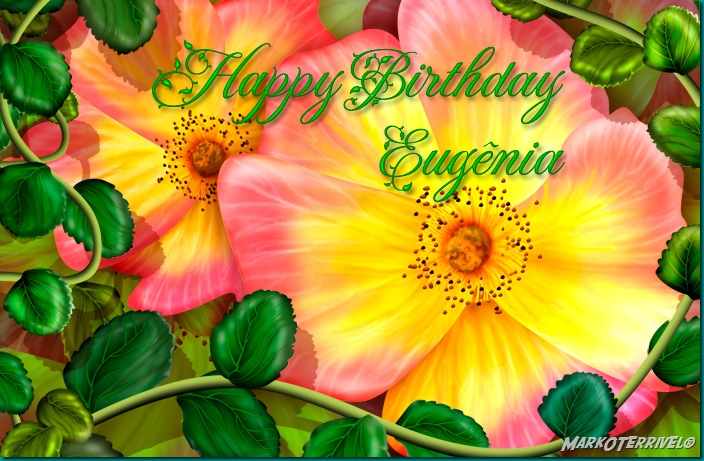 Happy Birthday Eugênia