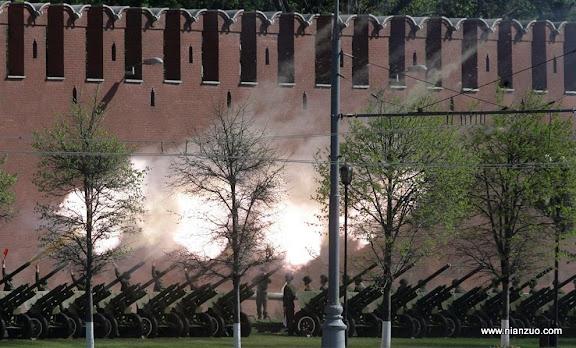 俄罗斯5月9日大阅兵 礼炮