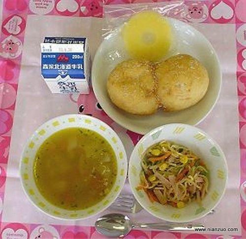 世界各国的校餐 日本:汤,面条?