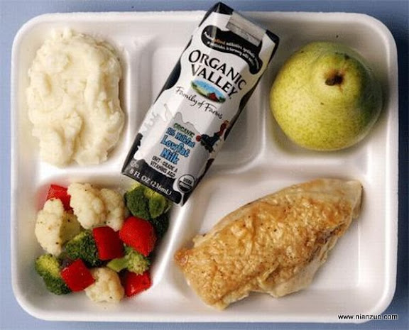 世界各国的校餐 美国:无语了