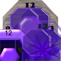 Crazy Clock Purple Design icon